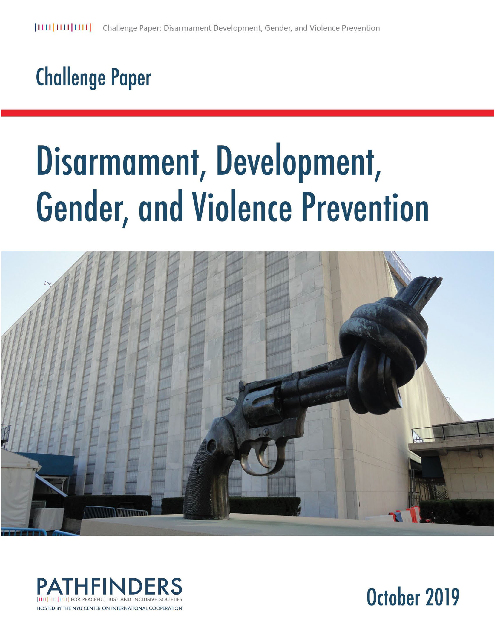 Disarmament Development Gender and Violence Prevention Challenge Paper_Cover