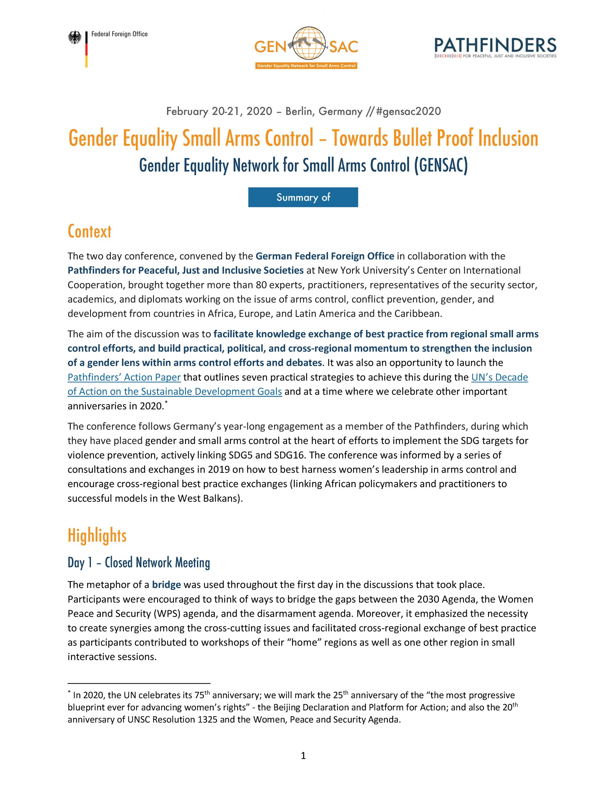 GENSAC 2020 Summary_final_EN_Cover